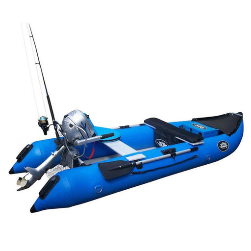 Nifty Boat Inflatable Fishing Dinghy Boat - 3.65m Sky Blue - Air Kayaks Direct