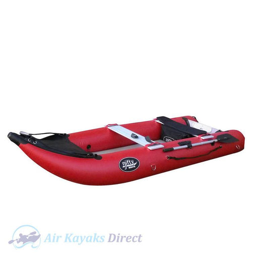 Nifty Boat Inflatable Fishing Dinghy Boat - 3.65m Red - Air Kayaks Direct