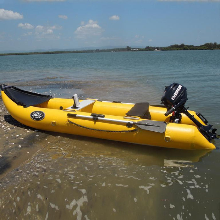 Nifty Boat Inflatable Fishing Dinghy Boat - 3.65m Yellow - Nifty Boat - Air Kayaks Direct