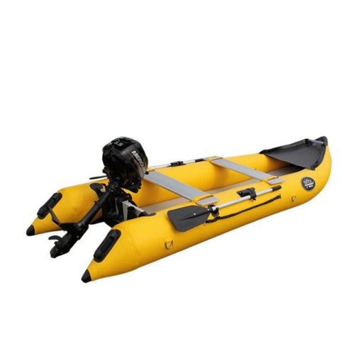 Nifty Boat Inflatable Fishing Dinghy Boat - 3.65m Yellow - Air Kayaks Direct