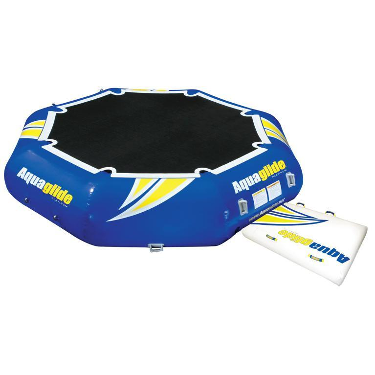 Aquaglide Rebound 16ft Inflatable Bouncer with Swimstep - Aquaglide - Air Kayaks Direct
