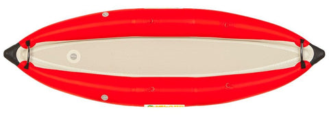 Island Inflatables Heavy Duty Inflatable Kayak - Red