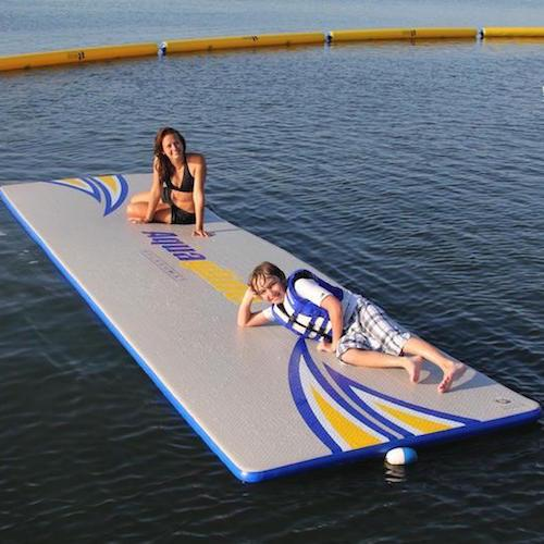 Aquaglide Splashmat™ Inflatable Swim Platform - 5.5m x 1.5m - Aquaglide - Air Kayaks Direct
