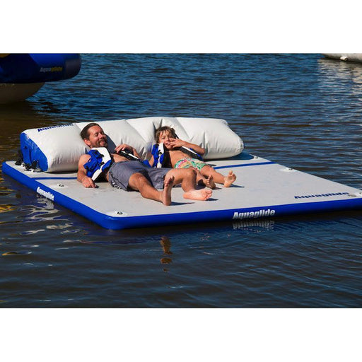 Aquaglide Sundeck™ Inflatable Water Lounge - 2.3m x 2.3m - Air Kayaks Direct