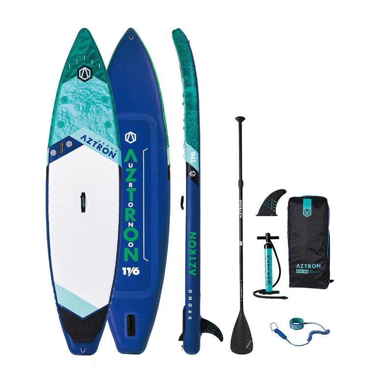 "Aztron Urono 11'6"" Inflatable SUP Paddleboard Deluxe Bundle - Aztron - Air Kayaks Direct"