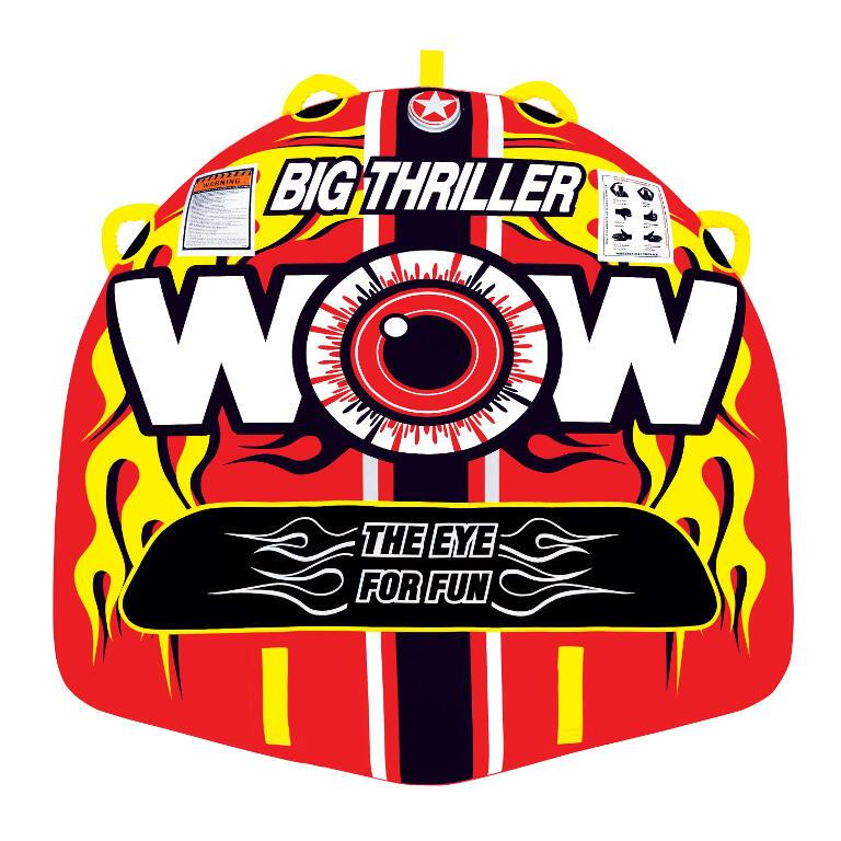 WOW Big Thriller Inflatable Towable Tube - 2P - WOW - Air Kayaks Direct
