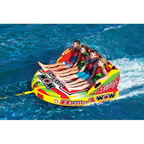 WOW Giant Bubba Inflatable Towable Tube - 4P