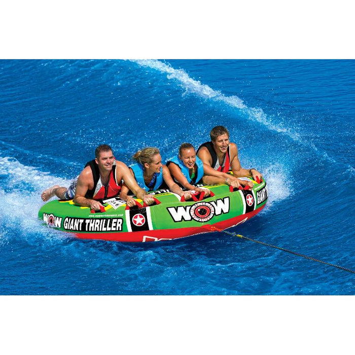 WOW Giant Thriller Inflatable Towable Tube - 4P - WOW - Air Kayaks Direct