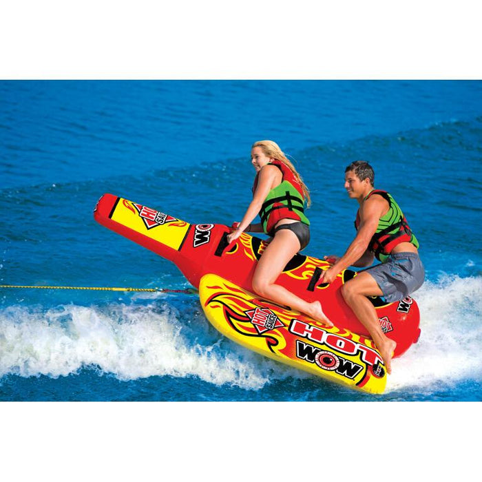 WOW Hot Sauce Inflatable Towable Tube - 2P - WOW - Air Kayaks Direct