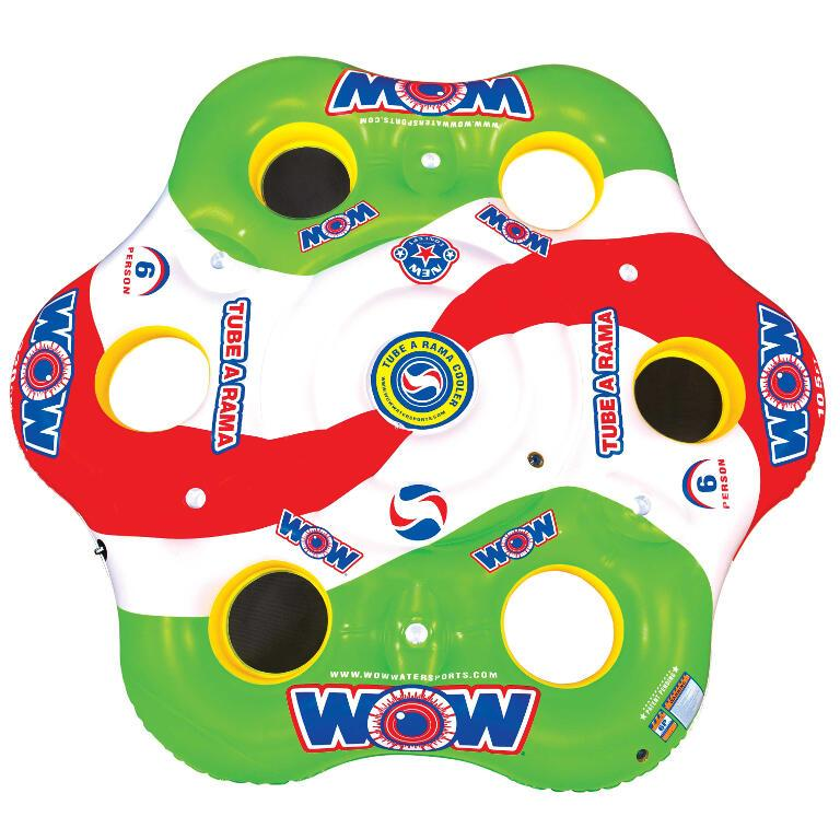 WOW Tube A Rama 6-Person Inflatable Lounge - WOW - Air Kayaks Direct
