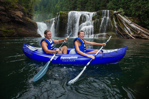 Aquaglide Yakima Deluxe 2-Person Inflatable Kayak Package
