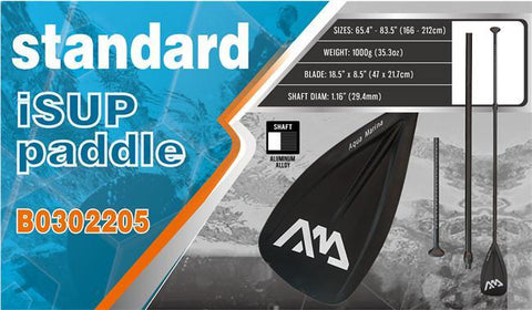 Aqua Marina 3-Piece Standard Aluminium Adjustable SUP Paddle