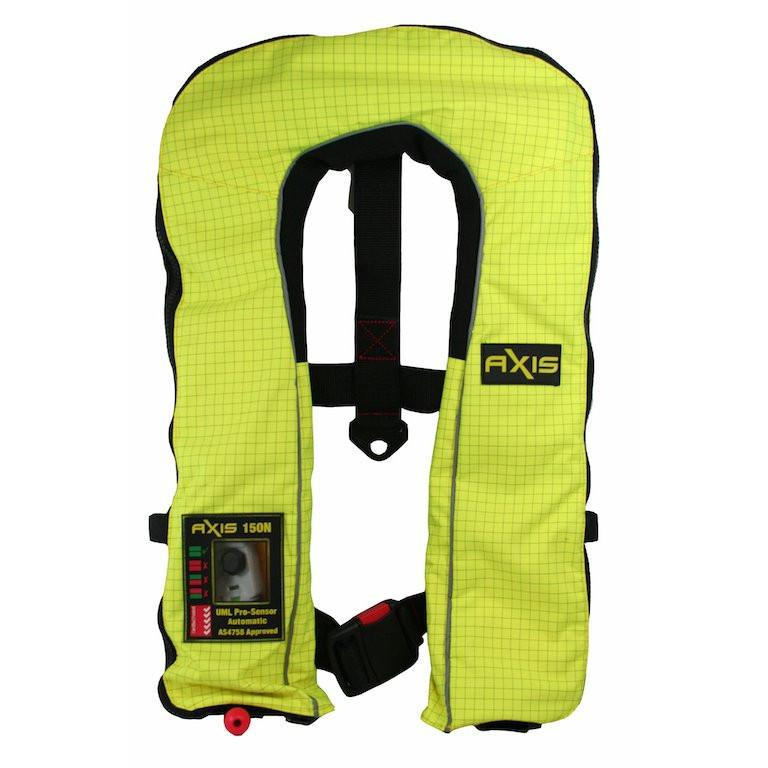 AXIS Commercial 200N Hi-Viz Flame Retardant Inflatable Life Jacket PFD - AXIS - Air Kayaks Direct