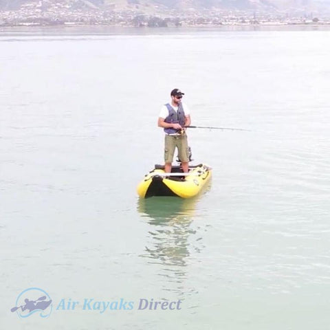 Nifty Boat Inflatable Fishing Dinghy Boat - 3.65m Yellow