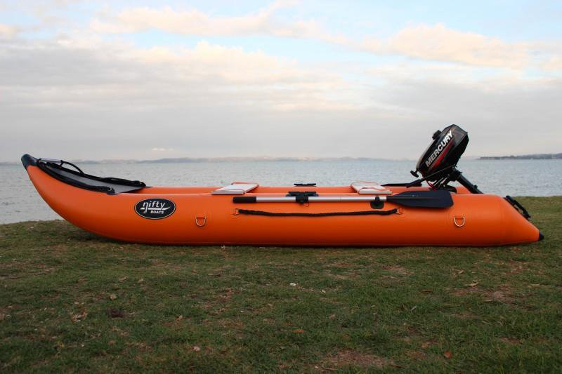 Nifty Boat Inflatable Fishing Dinghy Boat - 3.65m Orange - Nifty Boat - Air Kayaks Direct