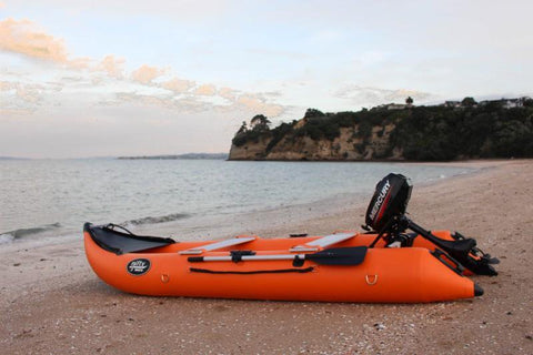 Nifty Boat Inflatable Fishing Dinghy Boat - 3.65m Orange