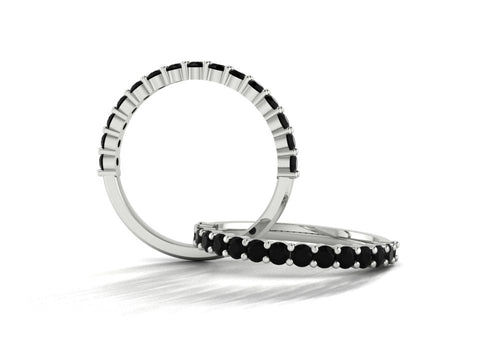 Black Diamond Eternity Ring, Custom Order by Sophie Forbes Jewellery
