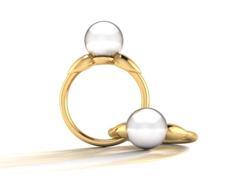 South Sea Pearl Statement Ring, Custom Order by Sophie Forbes Jewellery