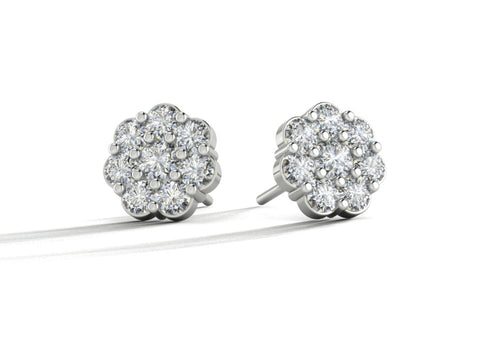 Diamond Flower Cluster Studs, Custom Order by Sophie Forbes Jewellery