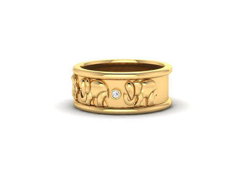 9ct Custom Designed Elephant Ring