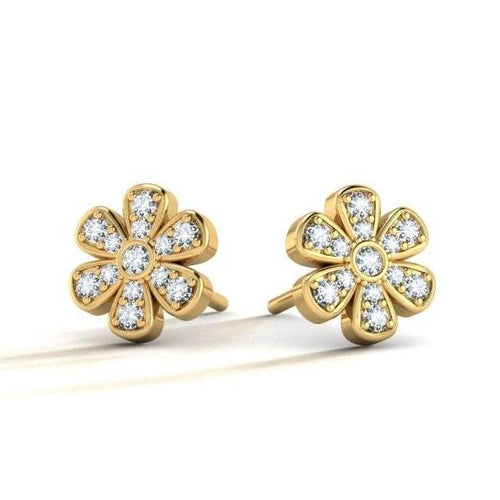 Gold Lillian Studs