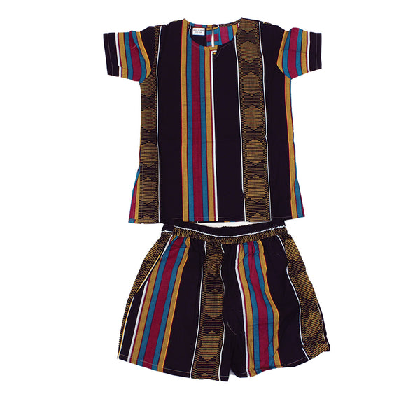 Children's Kente Short Set #4