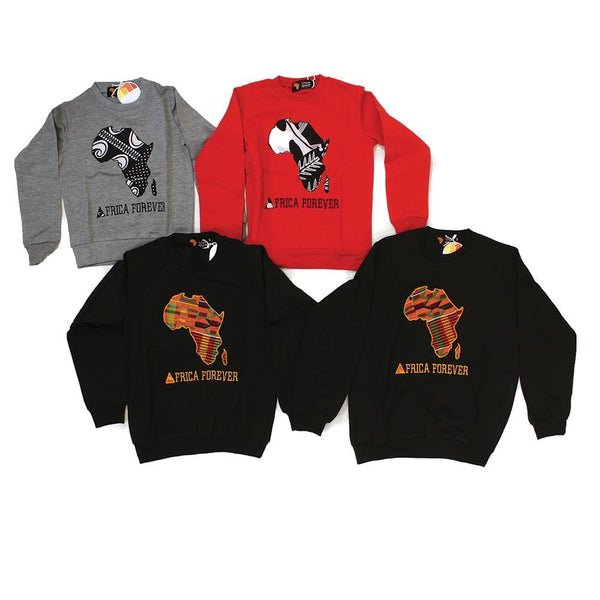 Set Of 4 Child Africa Sweatshirts ASSRTD