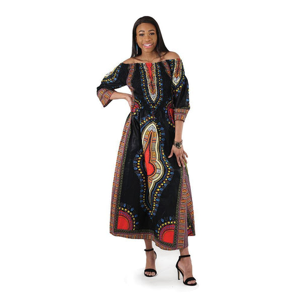 Traditional Print Queen Dress