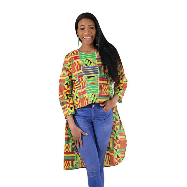 Kente Hi-Lo Top