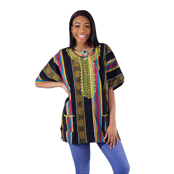 Embroidered Kente Dashiki