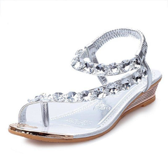 Womens Summer Rhinestone Sandals