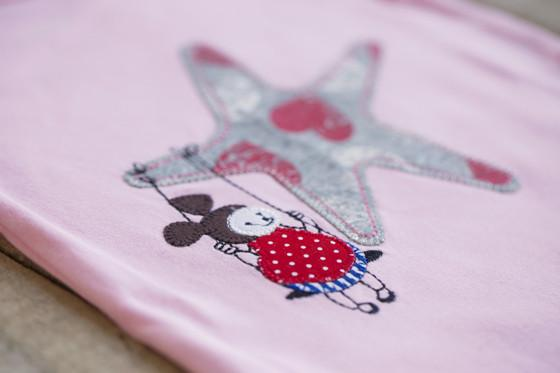 Heather Hill - Baby Girl Swinging On a Star Onesie