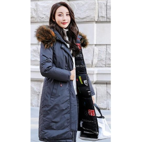 Womens Faux Fur Hooded Reversible Wear Puffer Coat