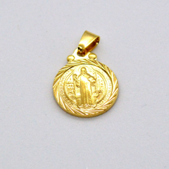 (1-2219-h9) Gold Overlay San Benito Pendant, 13mm.