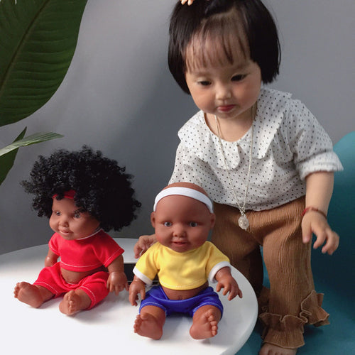 10inch African Afro & Sporty Baby Doll