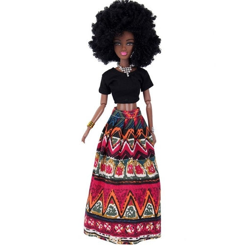 "18"" doll African Afro Baby Doll Movable Joints"