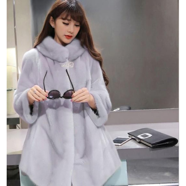 Womens Faux Fur Cape Coat