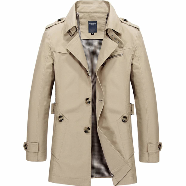 Mens Mid Length Trench