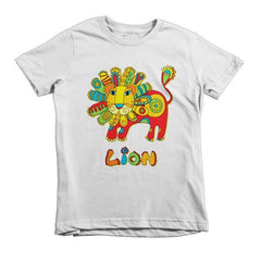 """HAPPY LION"" Short sleeve kids t-shirt-LocStar Revolution 