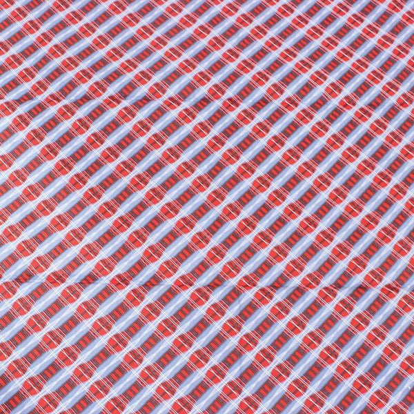Red/Blue Print Fabric