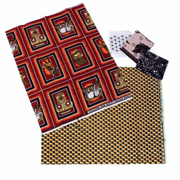 Fat Quarter Yard Print Fabric (5 pack)