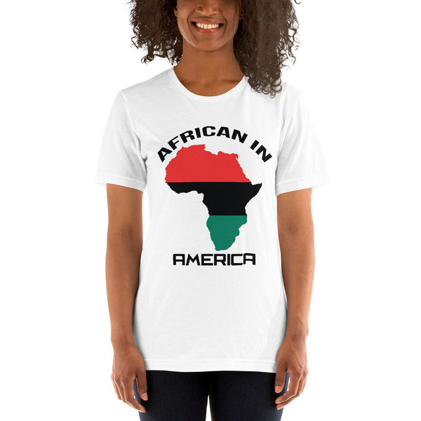 POPULAR! African in America Short-Sleeve Unisex T-Shirt (Check Out locstarrevoution.com for more design choices and products)