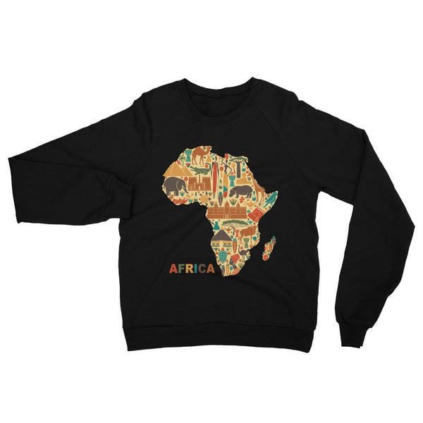 Abstract Africa Unisex California Fleece Raglan Sweatshirt