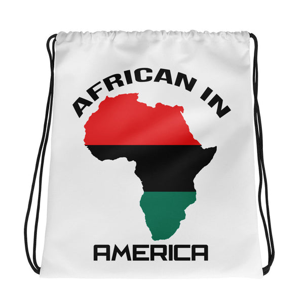 Most POPULAR! African in America Drawstring bag (Check Out locstarrevoution.com for more design choices and products)