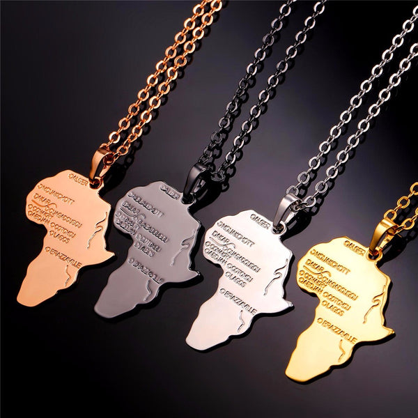 Africa Ethiopia Pendant & Chain Necklace for Men or Women