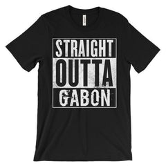 """STRAIGHT OUTTA GABON"" Unisex short sleeve t-shirt-LocStar Revolution 