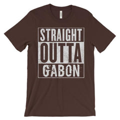 """STRAIGHT OUTTA GABON"" Unisex short sleeve t-shirt"