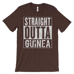 """STRAIGHT OUTTA GUINEA"" Unisex short sleeve t-shirt"