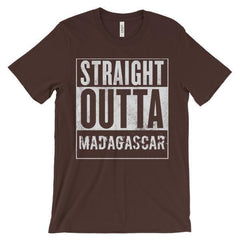 """STRAIGHT OUTTA MADAGASCAR"" Unisex short sleeve t-shirt"