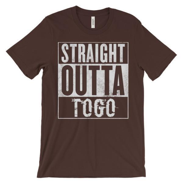 """STRAIGHT OUTTA TOGO"" Unisex short sleeve t-shirt-LocStar Revolution 